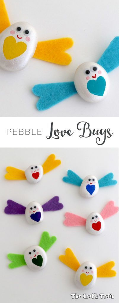 Pebble Love Bugs U2013 A Valentine Craft For Kids