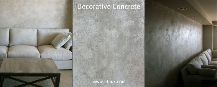 Faux Concrete #walls, #interior Design, #faux Finishes