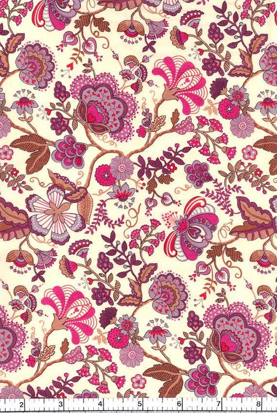 Very William Morris - Love it!!  Liberty Fabric Mabelle Purple Tana Lawn Fat Quarter