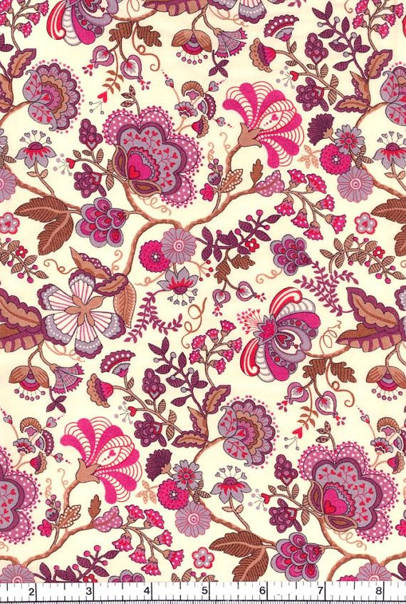 Very William Morris - Love it!!  Liberty Fabric Mabelle Purple Tana Lawn Fat Quarter