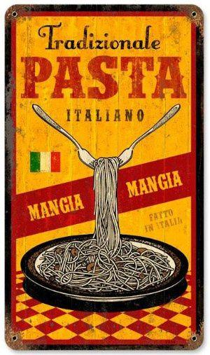 Tradizionale Pasta Italiano Vintage Metal Sign