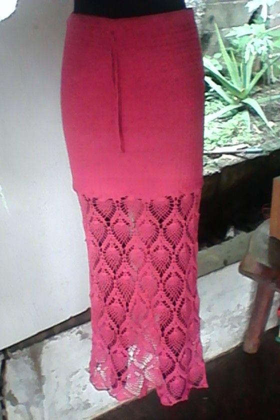 Falda larga color fucsia para mí amiga