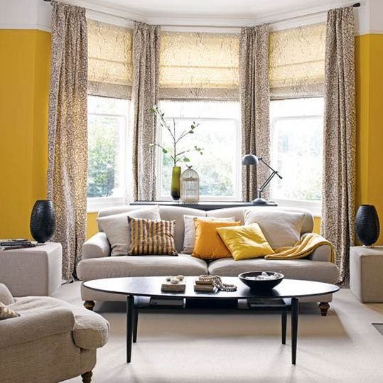 Dressing bay windows bay window treatments window and - Living room bay window treatments ...