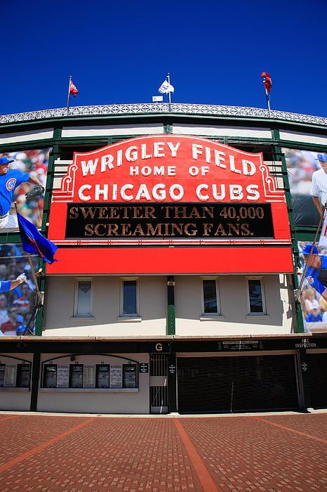 Chicago Cubs - Wrigley Field, Chicago, Illinois by Frank Romeo