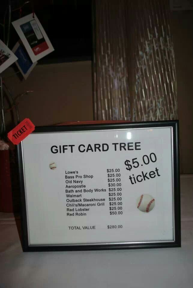 Gift card tree,,,,,$5 tickets