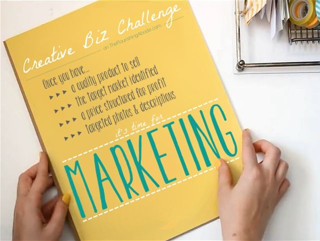 Final post of the Creative Biz Challenge - Marketing