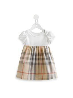 washed check shortsleeved dress