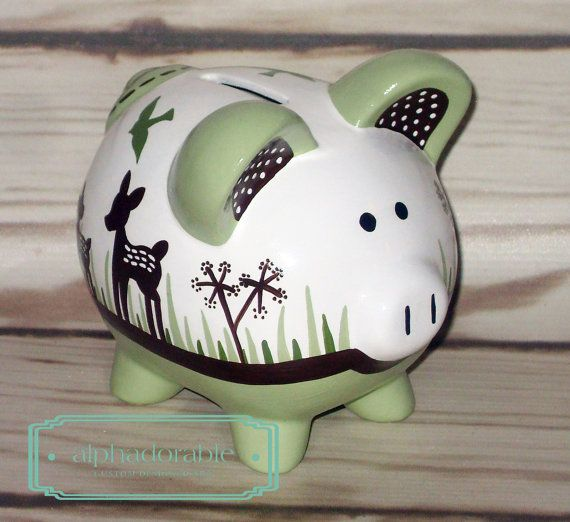 17 best images about piggy bank painting on pinterest for How to paint a ceramic piggy bank