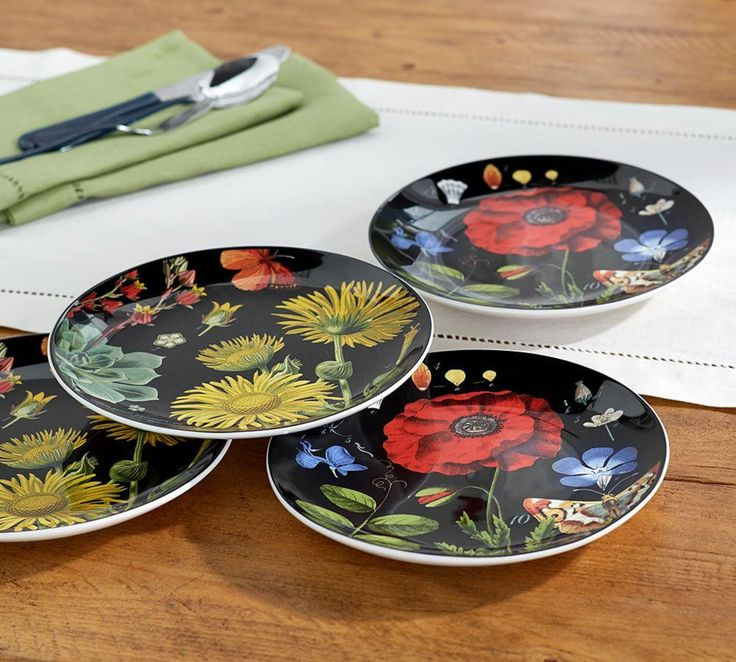 Botanical Salad Plate, Set of 4