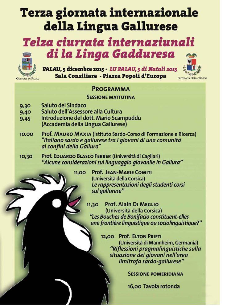 Terza giornata internazionale della lingua Gallurese 5 dicembre