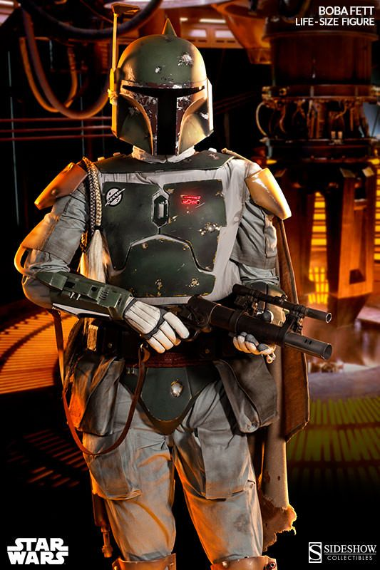 Boba Fett's Mandalorian armor was faithfully recreated in collaboration with the prop replica specialists at Tom Spina Designs. Description from actionfigurefury.com. I searched for this on bing.com/images