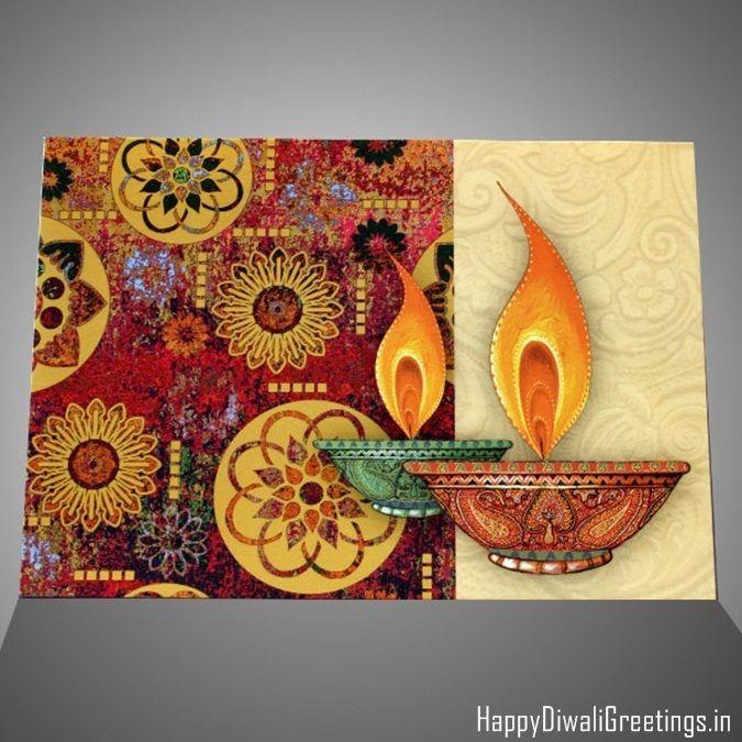 Card Making Ideas For Diwali Part - 31: Make Homedmade Diwali Greetings For Your Friends U0026 Family Member With  Beautiful Diwali Handmade Cards Idea