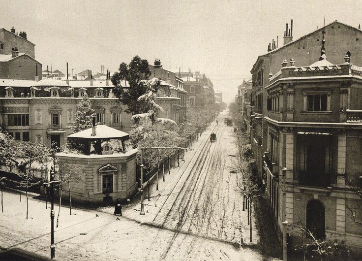 Calle Zurbano, hacia 1900.