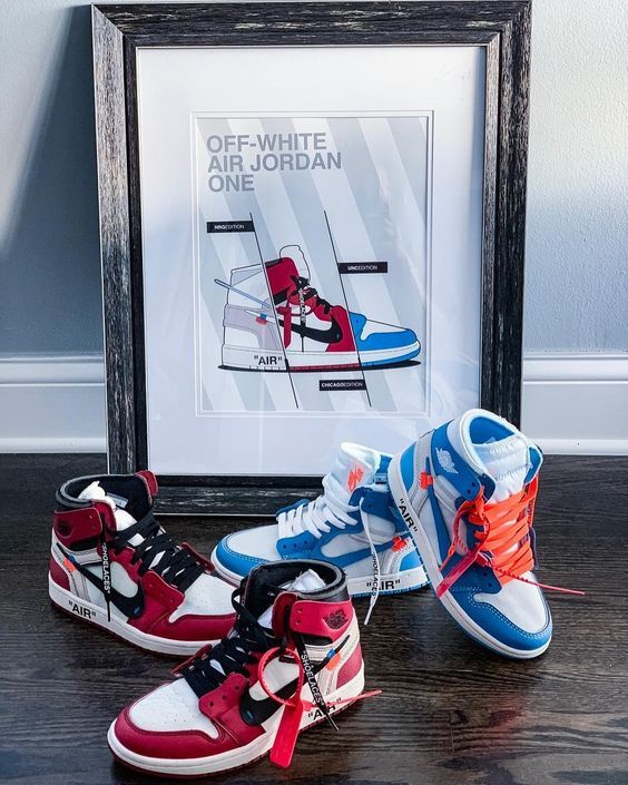 new products 41800 5fa7c Mens size Nike Off-White Air Jordan 1 Blue / OW fake sneakers in 2019 |  Original Nike Off-White | Sneakers nike, Shoes, Shoes nike adidas