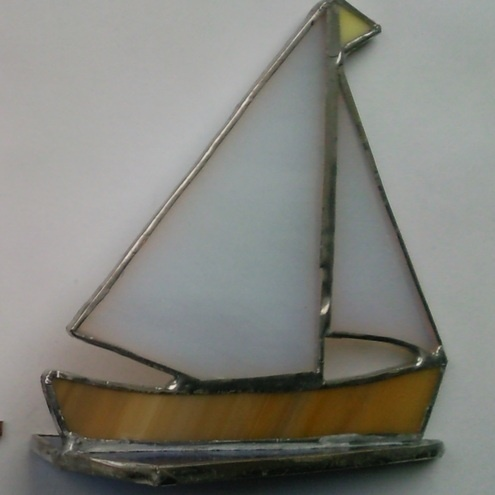stained glass Little boat