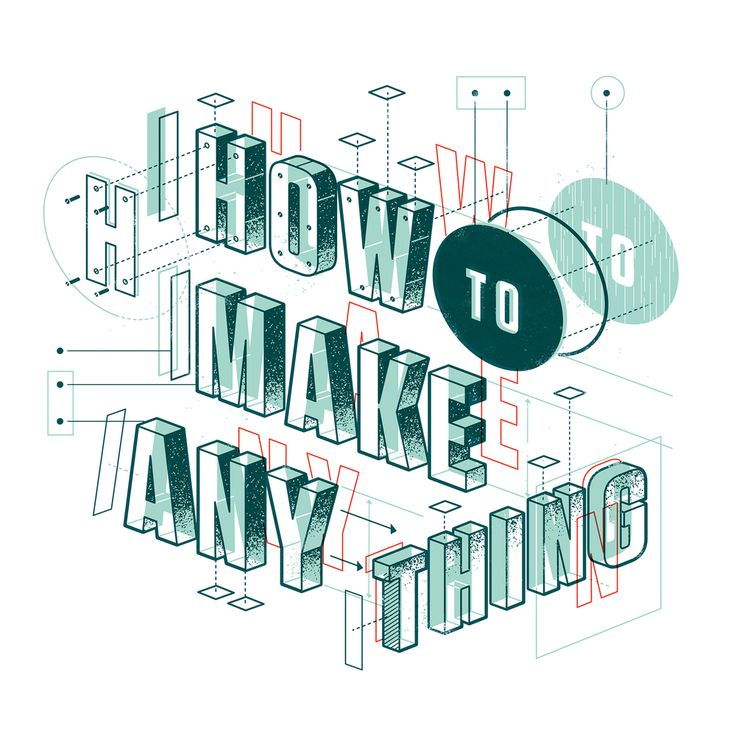 "Just completed a type opener for Popular Mechanics' big ""How to Make  Anything"" issue. Art Direction by Michael Wilson."