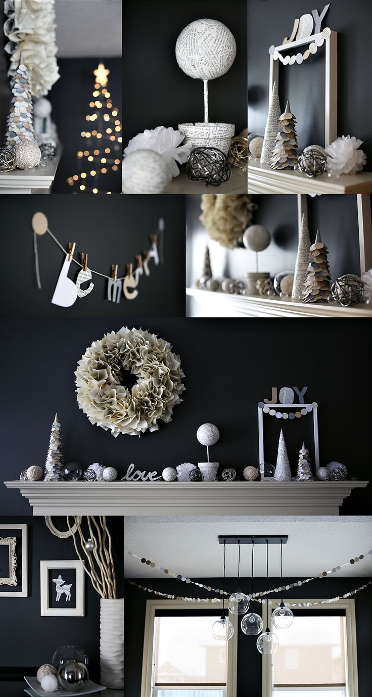 simple homemade decorations. definitely considering a non-tradition color palette for Christmas Decor this year: