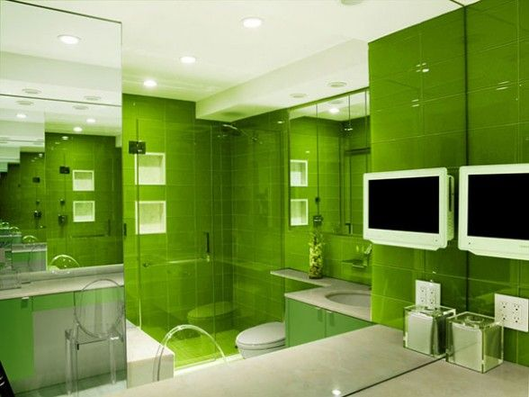 Google Image Result for http://www.beinteriordecorator.com/wp-content/uploads/2011/04/the-green-bathroom-with-lots-of-mirrors-shows-how-creating-some-contrast-by-using-white-can-add-interest-to-the-room.-588x441.jpg