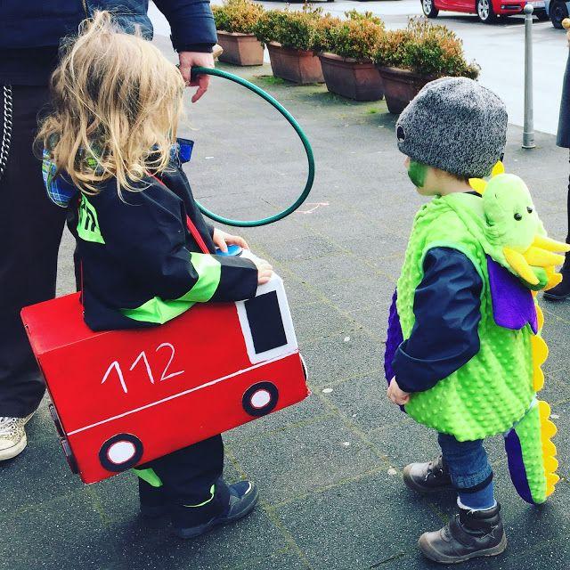 Feuerwehrauto für Halloween, Karneval oder einfach zum Spielen, mit Anleitung