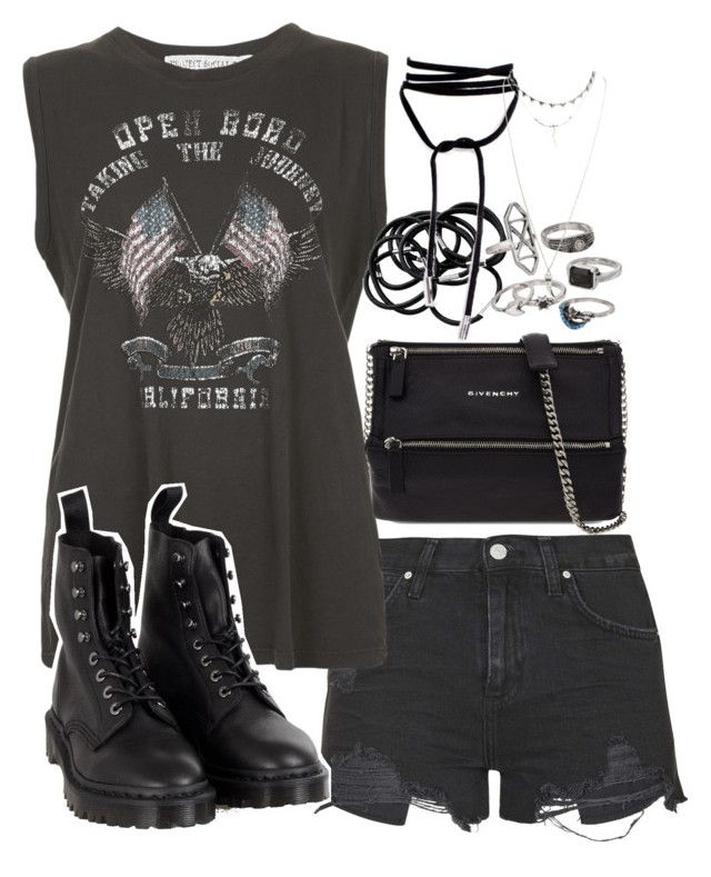 """""""Requested outfit"""" by ferned on Polyvore featuring Topshop, Project Social T, Dr. Martens, Givenchy, H&M, Mudd and Wet Seal"""