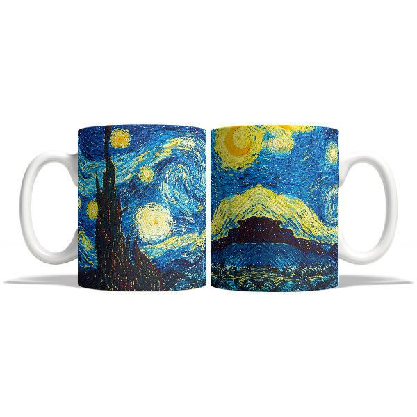 Great Wave Off Kanagawa Van Gogh Funny Mug Gifts for Him Meme Mug... (910 RUB) ❤ liked on Polyvore featuring home, kitchen & dining, drinkware, drink & barware, grey, home & living, mugs and grey mugs