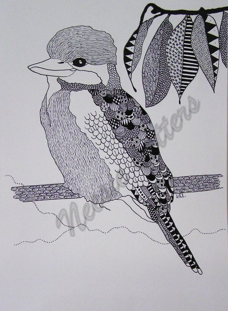 Kookaburra sitting in the old gum tree...