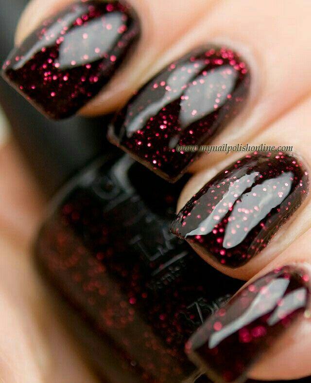 Best 25+ Red Glitter Nails Ideas On Pinterest