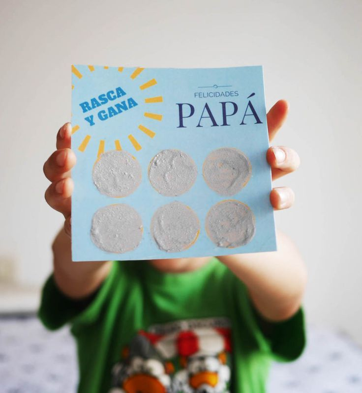 rasca  y gana imprimible para el dia del padre by Baballa father's day printable