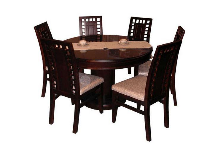 desain meja makan modern 6 kursi dari kayu