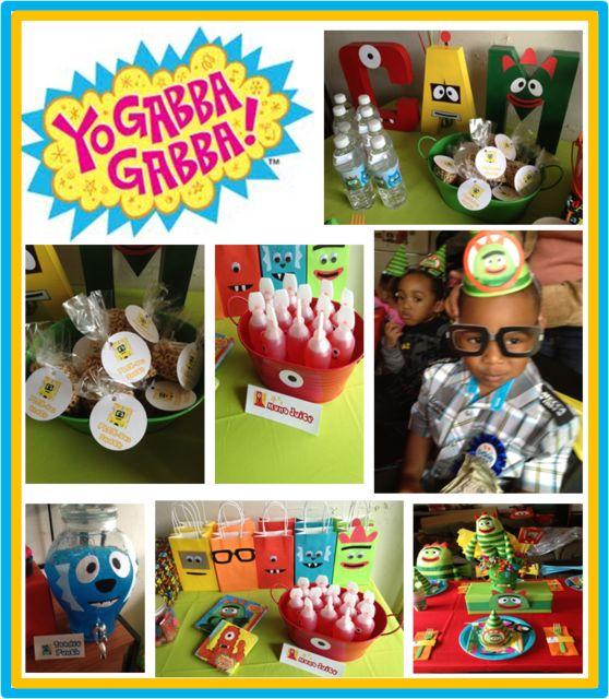 yo gabba gabba partyGabba Parties, Painting Letters, Cute Ideas, Giftbags, 1St Birthday, Yo Gabba Gabba, Birthday Parties Ideas, Birthday Party Ideas, Birthday Ideas
