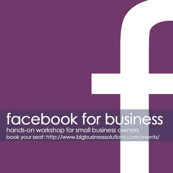Facebook for Business Workshop - blg business solutions
