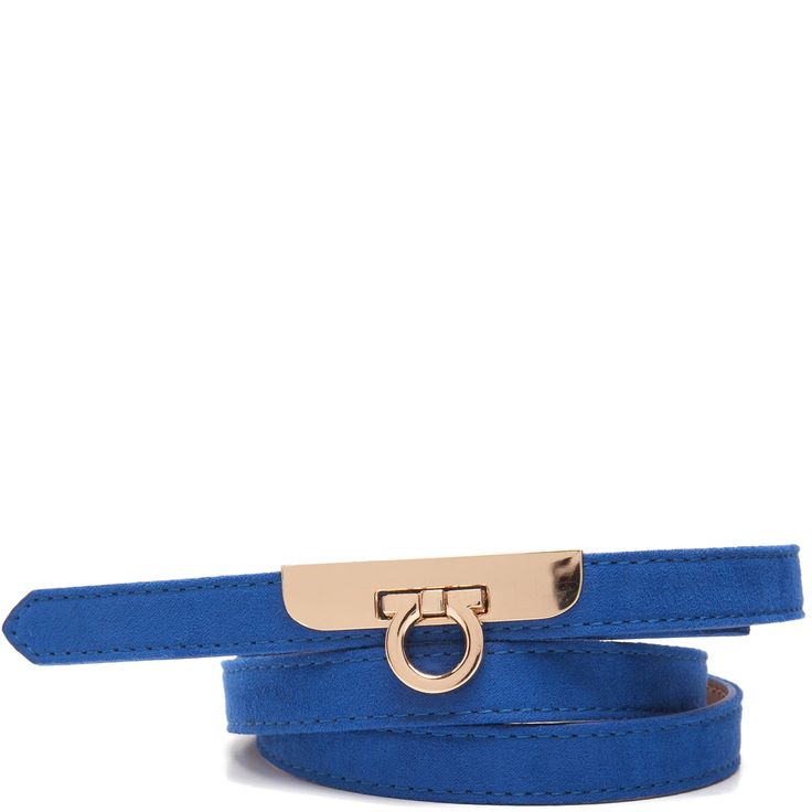 Cobalt blue slim belt
