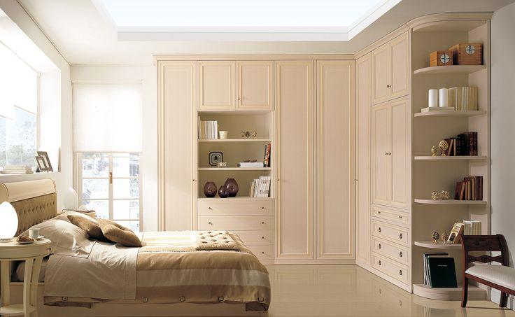 Composition M224 Door mod. DELTA - Glazed magnolia over ocher finish