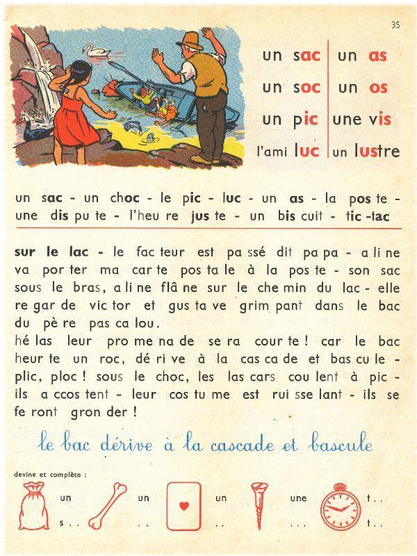 Livre Lecture 1960 Vintage Papiers Vintage Apprendre Le