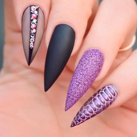 Modele Unghii 2019 Lungi Modele Unghii In 2019 Nails Stiletto