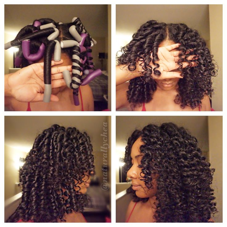 How to Roll Flexi Rods on Natural Hair - YouTube