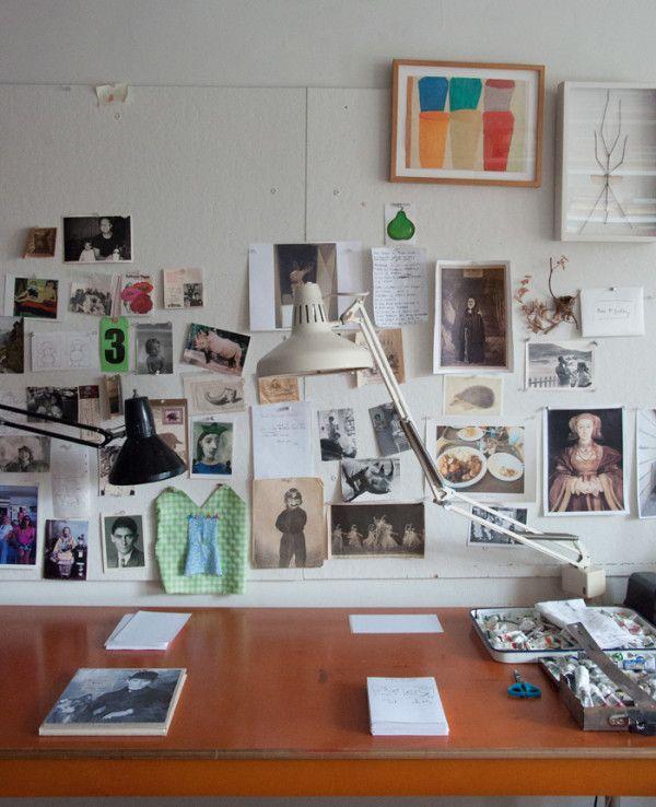 Mood board in Maira Kalman's studio | Block Print Social