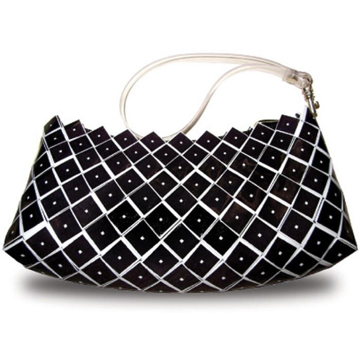 "Rebagz ""Off the Cuff Wristlet"" in On Point / Black. $45"