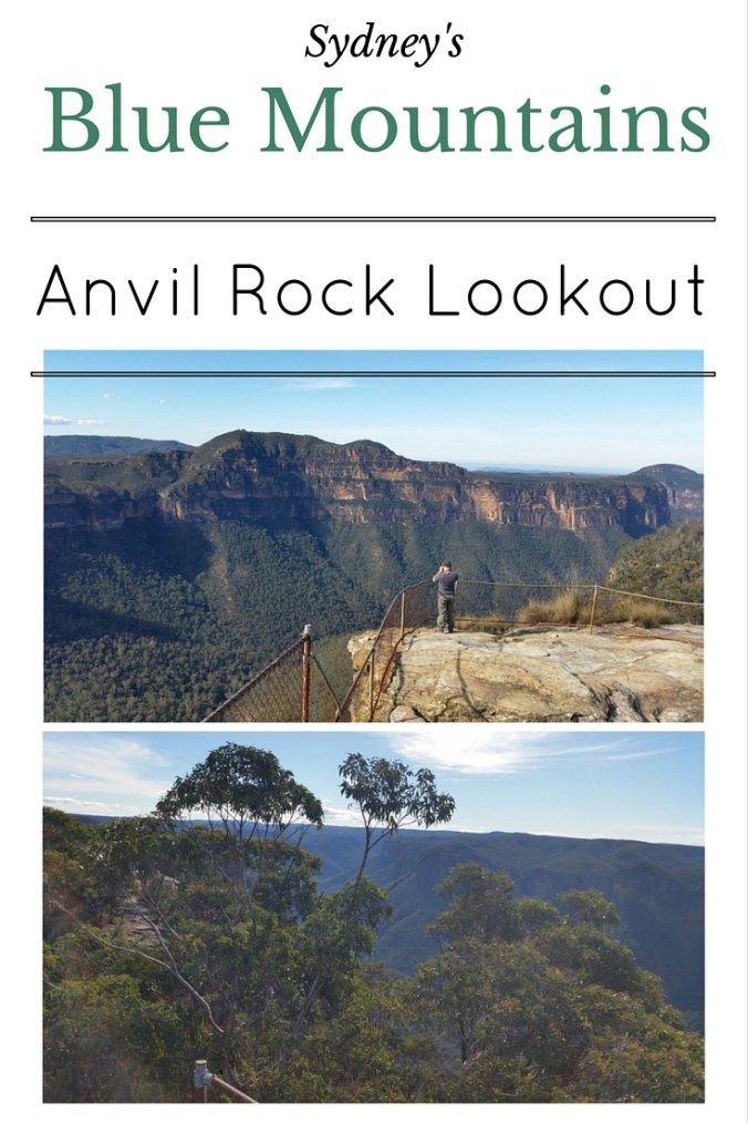 anvil rock lookout sydney's blue mountains
