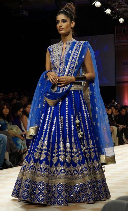Royal Blue. The Jaipur Bride 2013. blue lehenga