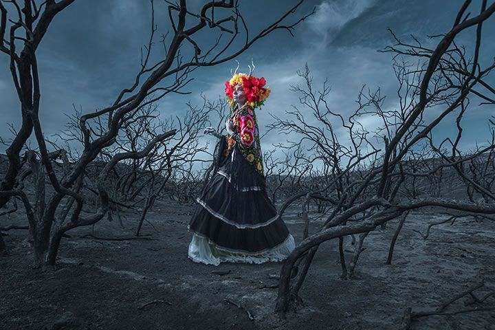 L'artiste,krisztiannaa réalisé des costumes pour le jour des morts, une fête mexicaine (un très beau film d'animation récent en est d'ailleurs le thème :