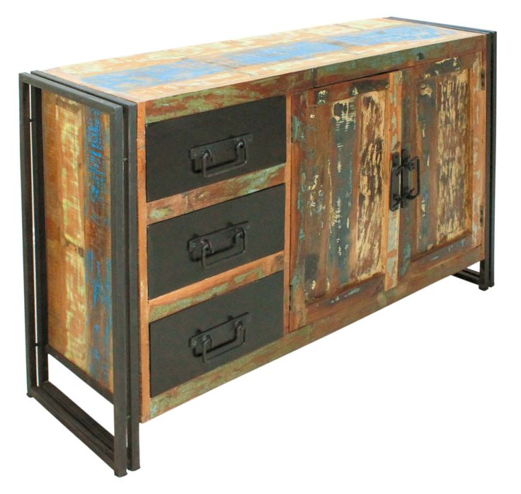 urban rustic furniture. urban rustic wood u0026 metal sideboard three drawer two door furniture