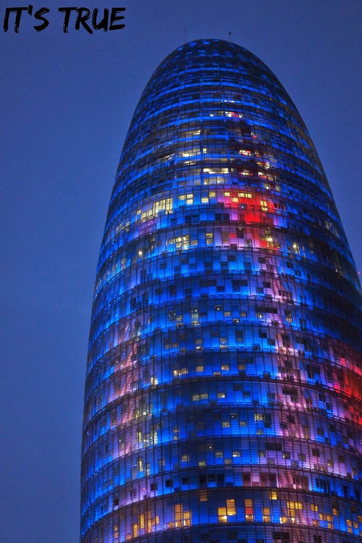 Torre Agbar in #barcelona  #travel #barcelonabynight #lights