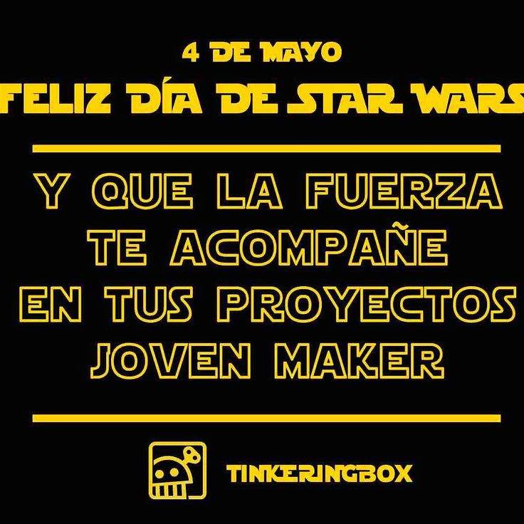 #maythe4th #starwars #maker #tinkeringbox