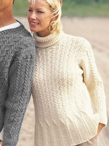 Casual Cables (for her) Free Knitting Pattern