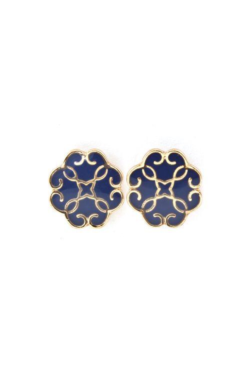 Madrid Earrings in Royal