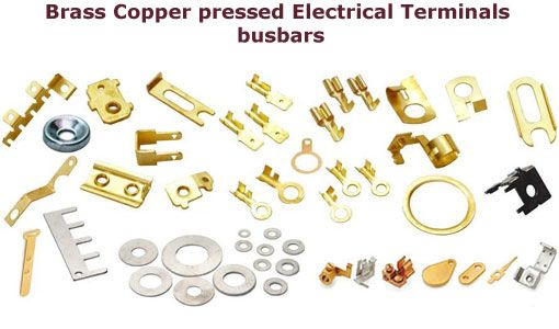 Brass copper pressed electrical terminals busbars #Brasscopperpressed #electricalterminalsbusbars  #BrassElectricalTerminals #CopperElectricalterminals We offer various types of electrical Brass Terminals Copper Electrical terminals and Copper busbars.  We ahve our own foundry and machine shop/press shop to offer high quality Brass Electrical terminals Copper Terminals.