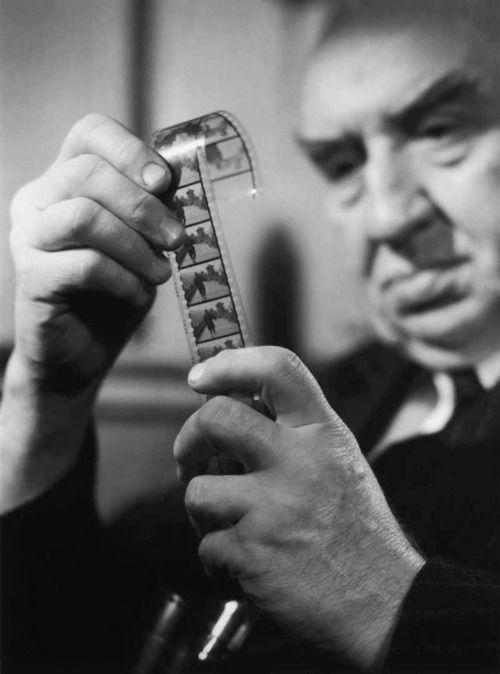 Louis Lumière en 1946, por Walter Limot