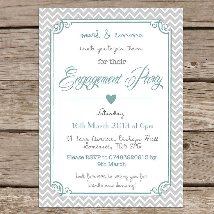 54 best engagement invitations images on pinterest | engagement, Party invitations