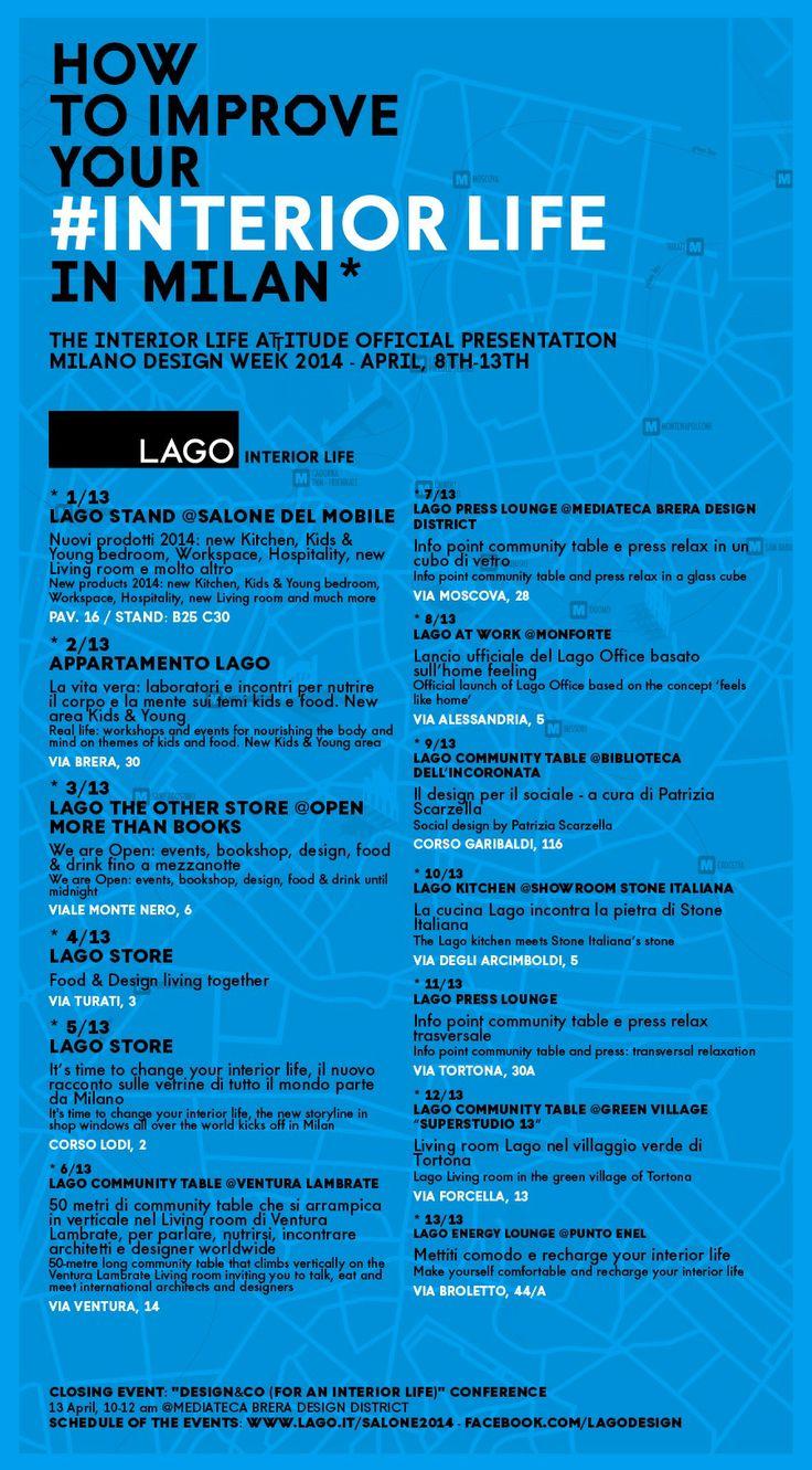 Design Week Schedule • Gola, realizzata in esclusiva per Lago da Serafino Zani, è visibile in anteprima negli Store di Via Turati e di Corso Lodi, a Milano